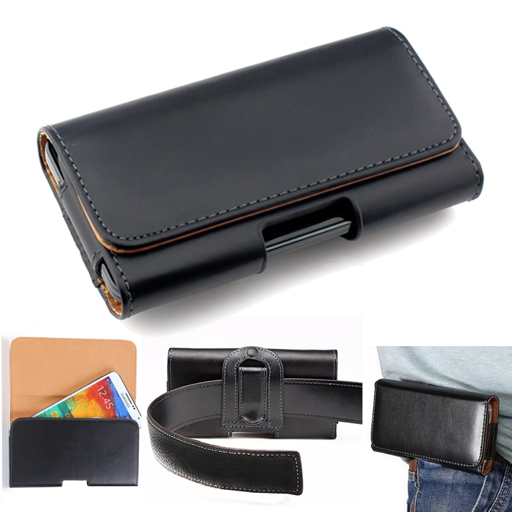 Case For Doogee Dagger DG550 Waist Belt Clip Phone Leather Holster For Doogee Homtom S16 5.5 inch Cell Phone Case(China)