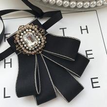 Жениха рубашка горный хрусталь галстуки-бабочки колледж моды британский профессиональный стюардесса студент галстук-бабочка воротник свадебные аксессуары