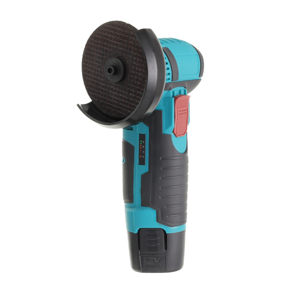 Tools : 12V 300W Brushless Angle Grinder with Two Batteries Mini Cordless Angle Grinder Polishing Machine Diamond Cutting Power Tool