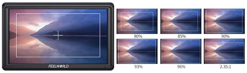 FEELWORLD S55 5.5 cal DSLR ekran aparatu 4K HDMI LCD IPS HD 1280x720 wyświetlacz monitor zewnętrzny 8.4V DC wyjście dla Canon Sony Nikon 18