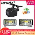 Carsanbo WIFI Senza Fili Auto Videocamera vista posteriore 720P HD Anteriore Inverso di Backup Della Macchina Fotografica Dash Cam con Alimentazione USB di Alimentazione per IOS /Android
