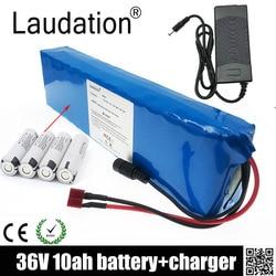 Laudation 36V 10ah Elektrische Fiets Batterij 36V 18650 Batterij Pack 500W High Power En Capaciteit Motorfiets scooter Met Bms