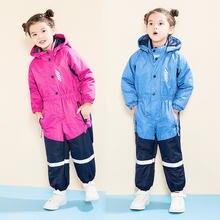 Детский сиамский лыжный костюм куртка для улицы хлопковая водонепроницаемая
