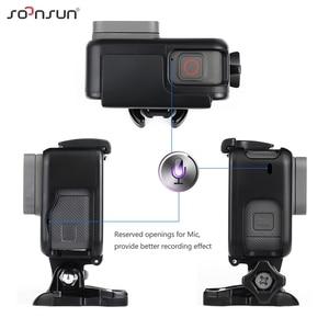 Image 5 - حافظة إطار حماية قياسية من SOONSUN مزودة بمرشح عدسات ND8 لكاميرا GoPro Hero 5/6/7 باللون الأسود ملحقات 7 Pro