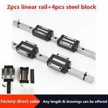 Linear-Guide-Rail Slide-Block Carriages Cnc Router Engraving HGH20 Steel HGW20CC 4PCS