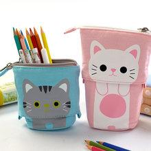 Чехол для школьного карандаша с милым котом девочек и мальчиков