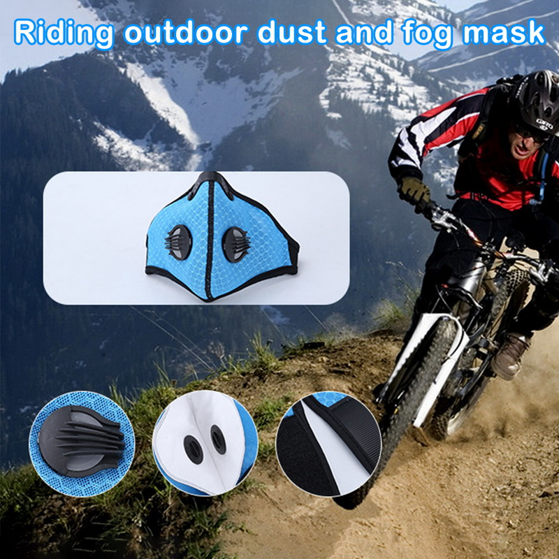 Filter Activated Carbon  2.5 Anti-Pollution Running With Cycling Mask KN95 Antiviral Coronavirus Sport Face Mask 28