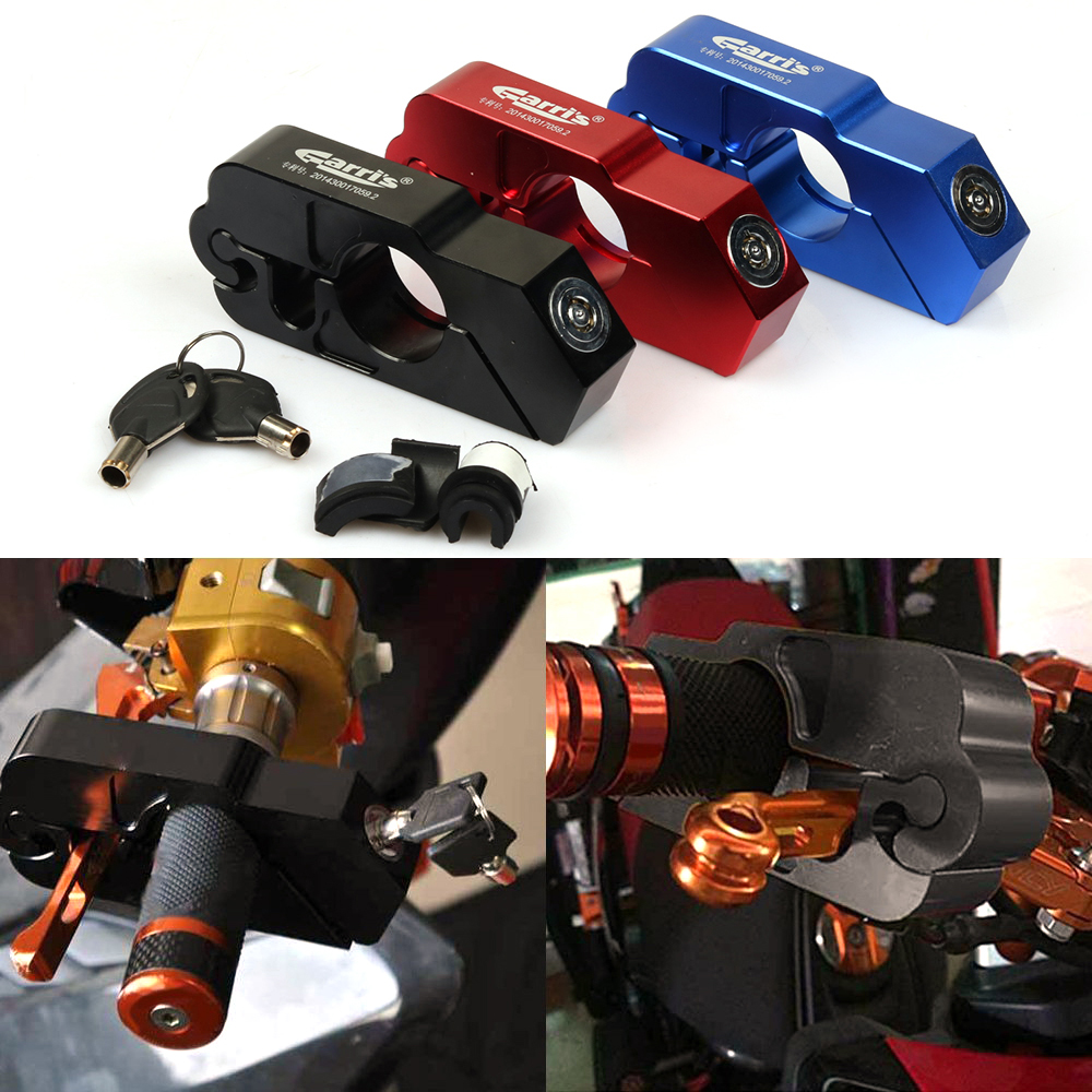 S2R Motorcycle Handlebar Lock Handle Safety Lock Safety Lock Autobike Handle Lock For Scooter ATV Dirt Street Bikes Auto
