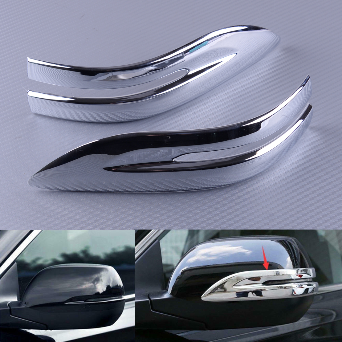 Stainless Steel Rear Corner Bumper Cover Trim For Honda CR-V CRV 2017-2018 Set