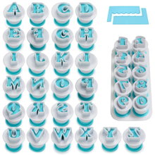 Letter and number fondant cake mold, cookie stamp impression, embossing cutter, uppercase number shape DIY cookie cookie, with 2