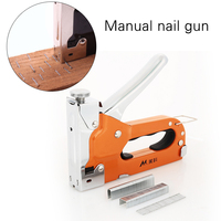 Гвоздильщик для дверей, металлический оранжевый деревообрабатывающий инструмент, запчасти, деревянный дюбель, Столярный гвоздь