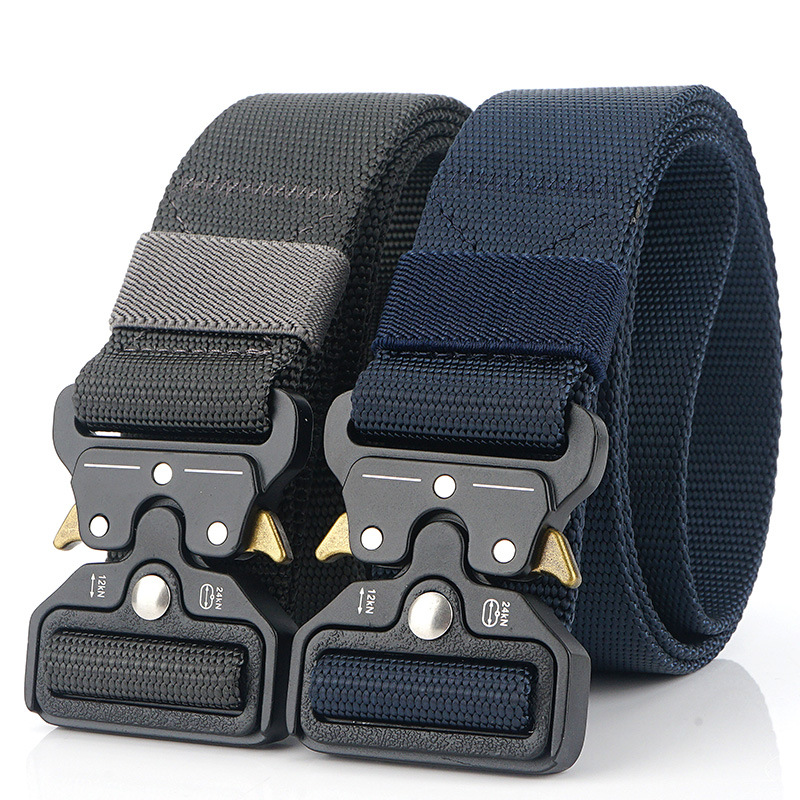 Mens Army Tactical Belt Military Nylon Belt Combat Belts Knock Off Emergency Survival Waist Tactical Gear Belt Strap Ceintures