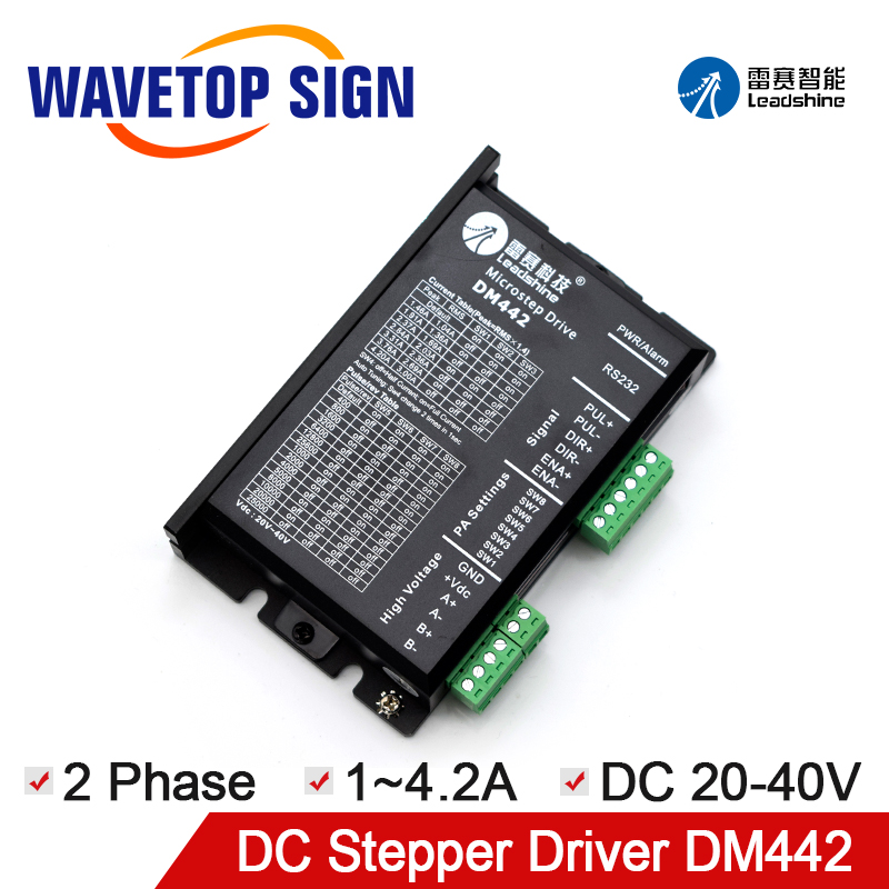 WaveTopSign Leadshine 2 Phase Stepper Motor Driver <font><b>DM442</b></font> Voltage 20~40VDC Current 1.0~4.2A image
