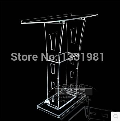 Free Shipping Beautiful Acrylic Desktop Lectern / Acrylic Church Podiums / Acrylic Pulpi Furniture Pulpit Lectern Acrylic Podium