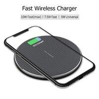 Pad caricabatterie Wireless QI da 10W per iPhone 11 Xs Max X XR 8 Plus ricarica rapida per Samsung Note 9 Note 8 S10 caricabatterie a induzione rapida