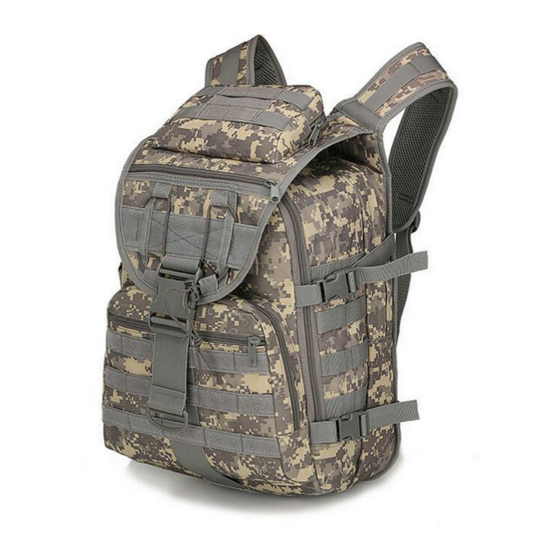 Large Capacity Backpack Army Bags Canvas Bucket Bag Shoulder Sports Bag Male