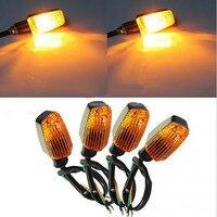 4pcs Motorcycle Turn Signal Lamp Indicator Blinker 12V 3W Plastic High Performance
