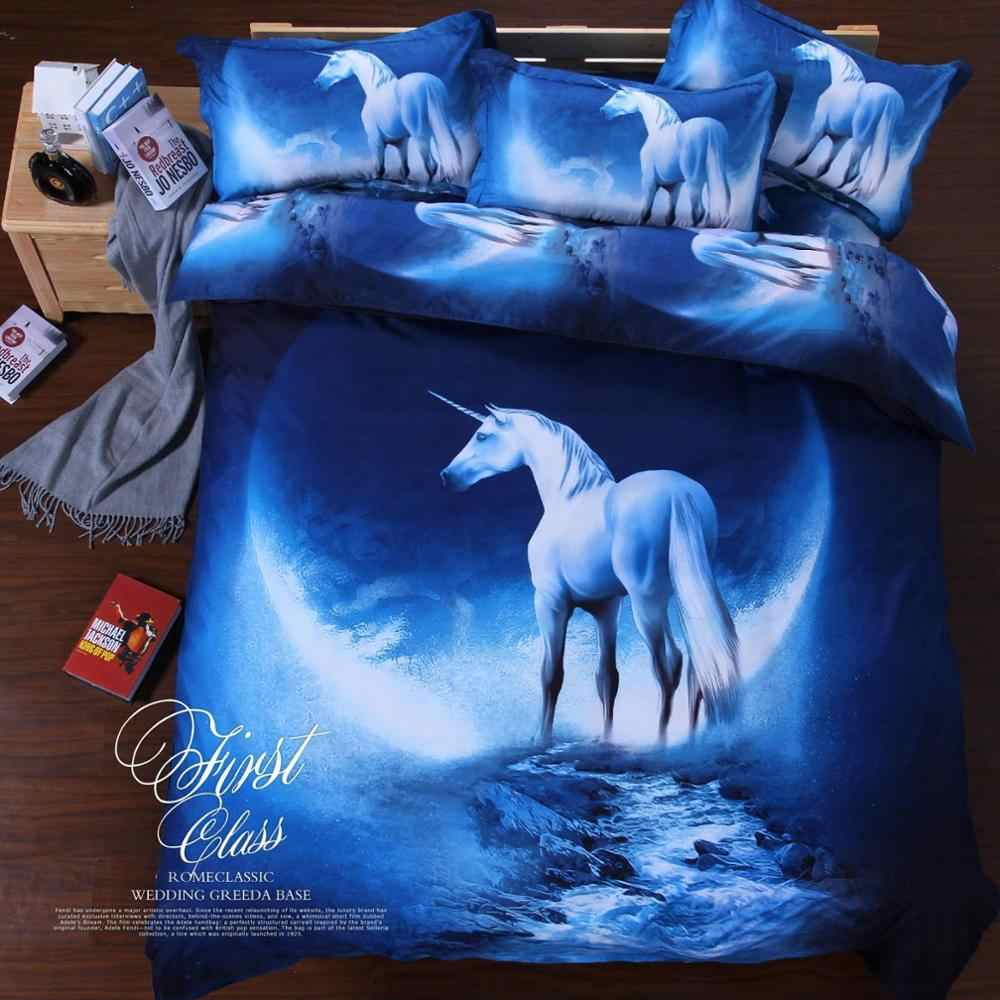 Bedding Cover Sets Universe Outer Space Themed Bed Linen 3D Galaxy Duvet Cover Fitted Sheet 2pcs/3pcs/4pcs Single Double Size