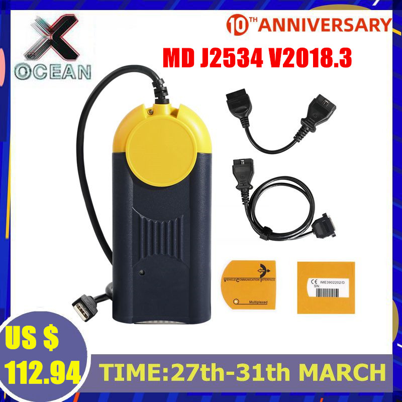 Newest Version Diagnostic Tool Actia Multi-Diag Multi Diag Access J2534 Interface OBD2 Device Multidiag J2534 In Stock