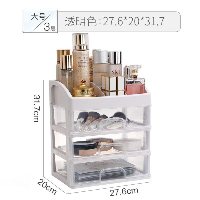 Caixa de armazenamento plástica cosmética do revestimento