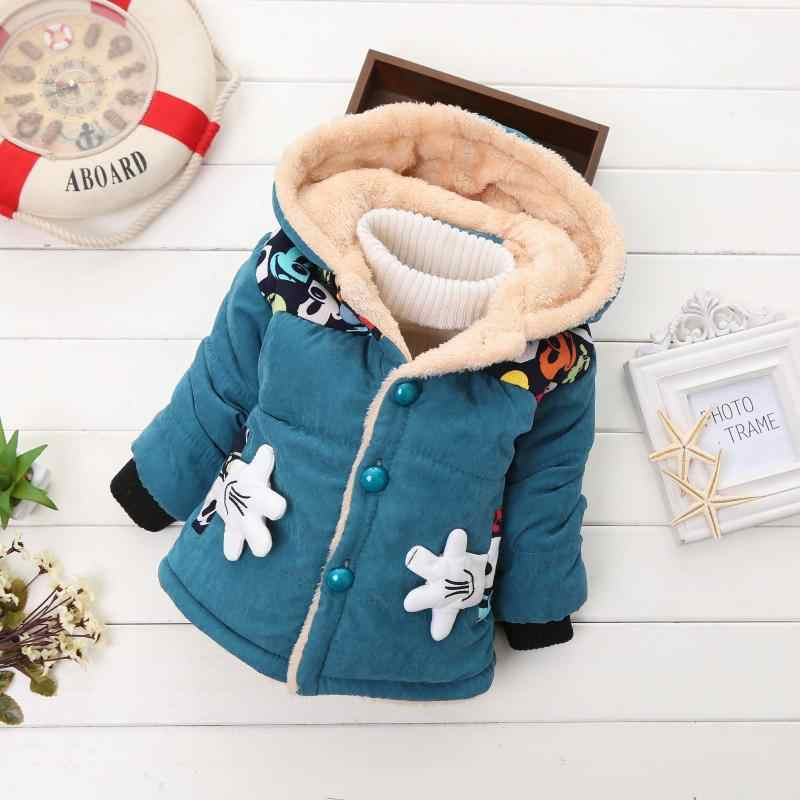 Winter Baby Girls Jackets Autumn jackets For Boys Children jackets Kids Warm Wool Hooded Outerwear Boy Coat For Clothes Children