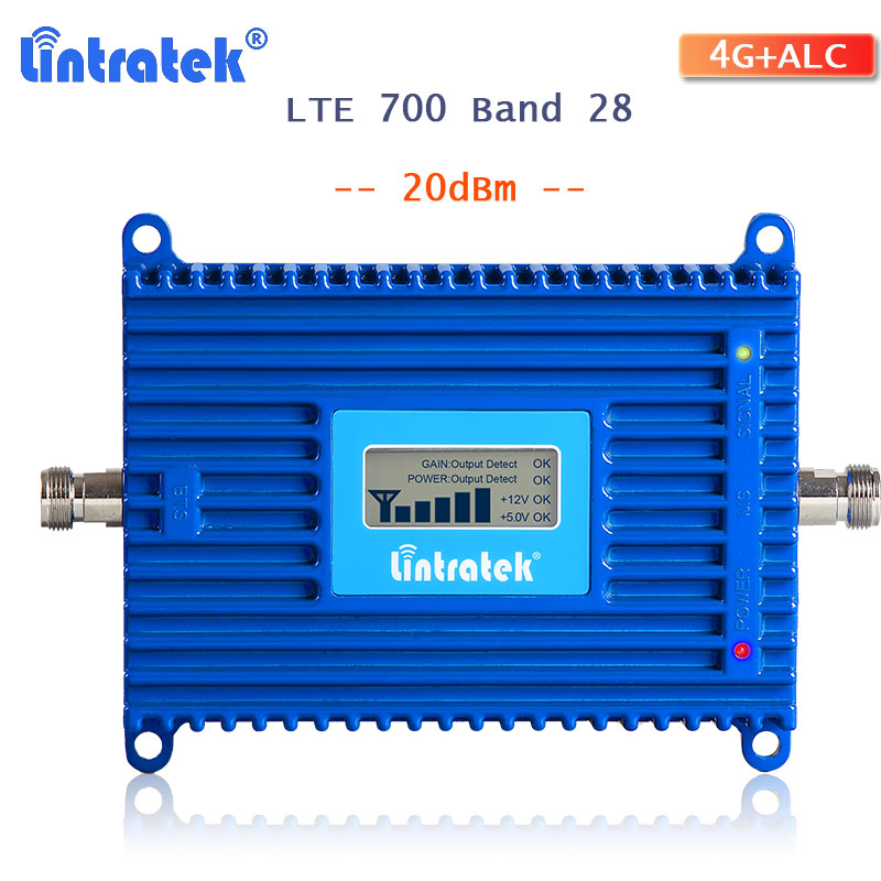 Lintratek 4g LTE Band 28 Signal Booster Amplifier LTE 700 Cellphone Signal Booster Repeater 700mhz 4g Internet Netwokr Amplifier