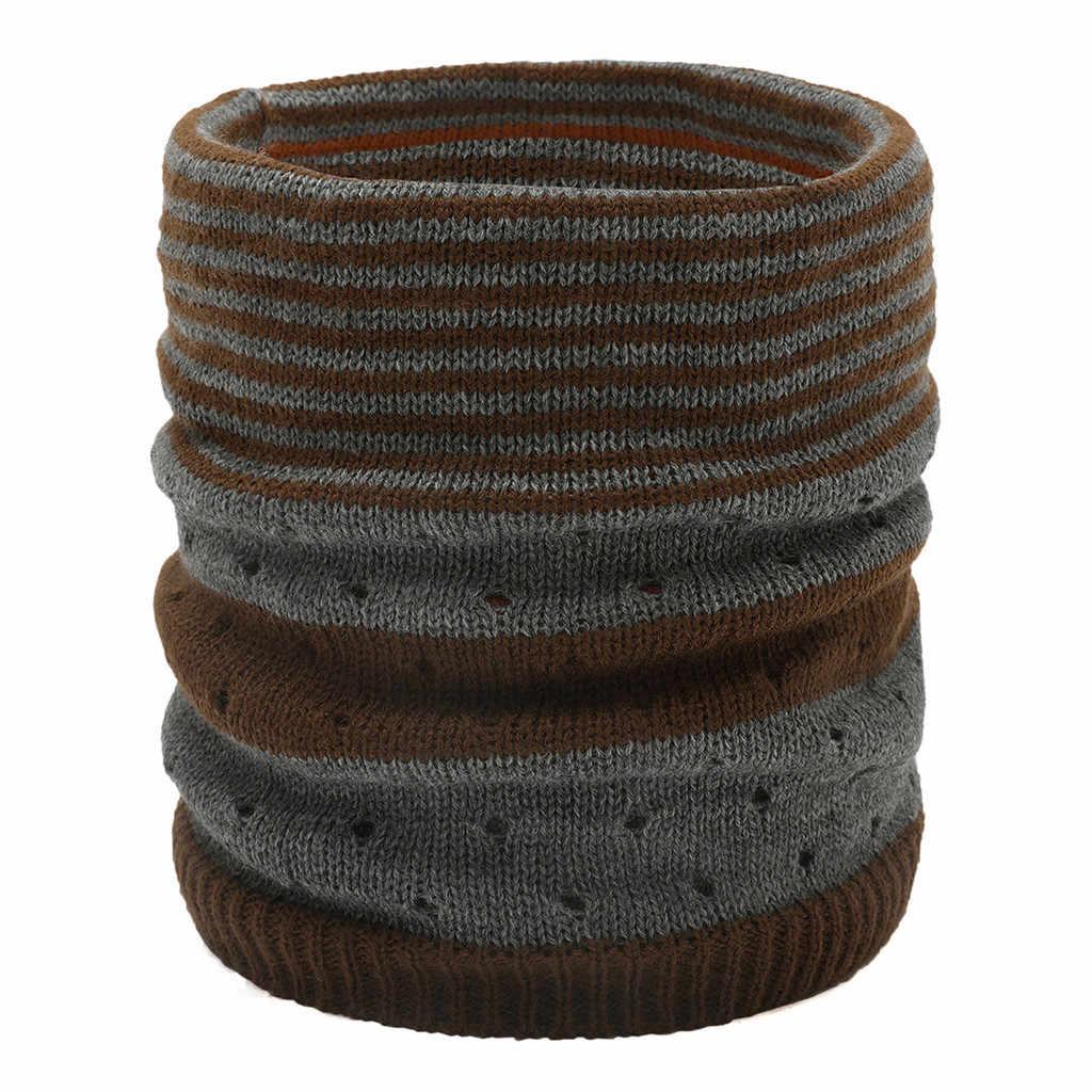 Bufanda caliente de invierno para mujer y hombre, bufanda gruesa de lana tejida con Cable, cuello infinito, cuello de capucha, bufanda circular