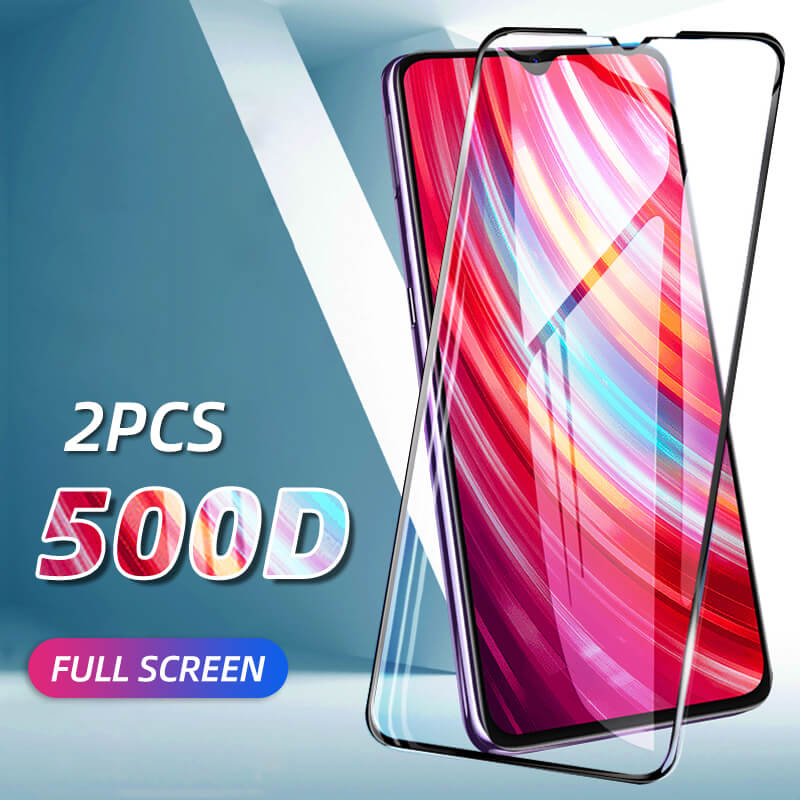 2 Piece Full Cover Tempered Glass For Xiaomi Redmi K20 Pro Redmi Note 8 7 6 5 Pro 7A 8A Protective Glass Screen Protector Film