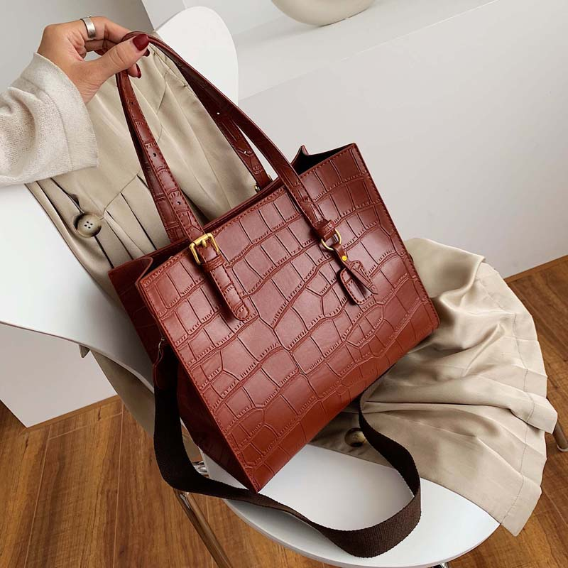 Stone Pattern Shoulder Bag Women Travel Bags Leather Pu Quilted Bag Female Luxury Handbags Women Bags Designer Sac A Main Femme
