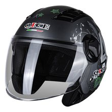 New Motorcycle Motocross Helmet For Men Women Removable Lens Mask Breathable Drop proof Wear resistant Motorcycling Half Helmet(China)