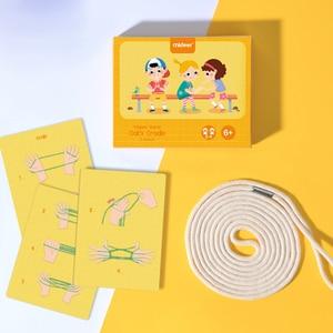 Детская строка веревка игровой набор материалы montessori колыбели Детские Обучающие Развивающие игрушки для детей ручной работы палец игра