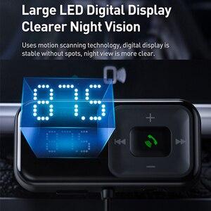 Image 2 - Baseus FM Modulator Transmitter Bluetooth 5,0 FM Radio 3,1 EINE USB Auto Ladegerät Car Kit Wireless Aux Audio FM transmiter
