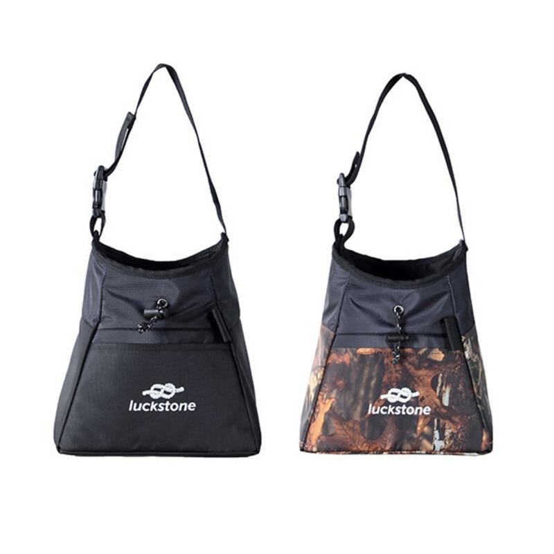 Spor ve Eğlence'ten Tırmanma Aksesuarları'de Yüksek kaliteli Oxford kumaş su geçirmez tırmanma çantası pratik açık ağırlık kaldırma kaya magnezyum çantası tırmanma ekipmanları title=