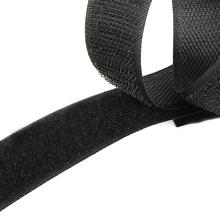 2M 16-40mm Black Not Adhesive Hook and Loop Fastener Tape Sticker Velcros Nylon Magic Tape for DIY Craft Supply Roll Sew On Tape