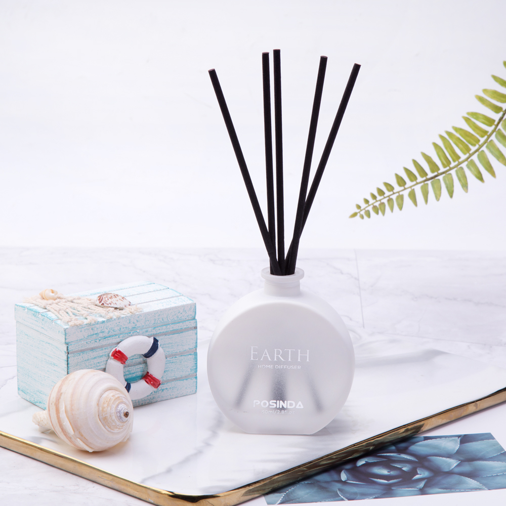 Reed Diffuser Gift Set 3.5fl.oz 100ml Diffuser Oil Sticks Set Aromatic Air Diffuser Fragrance Home Office Gifts Blue Raindrop