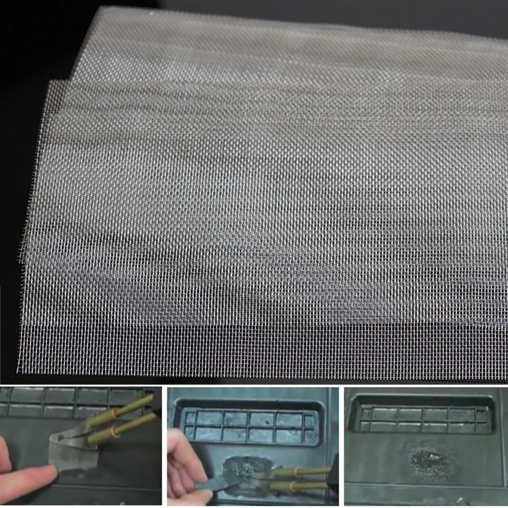Glue Mesh Universal Repairing Panels Fix Stainless Steel Car Bumper Grille Net For Any Body Kit Hood Vent Vehicle Opening