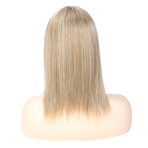 Image 5 - Aigemei Silky Straight Synthetic Hair Invisible Block Replacement Closure 613 Hairpiece for Top Less Hair Women