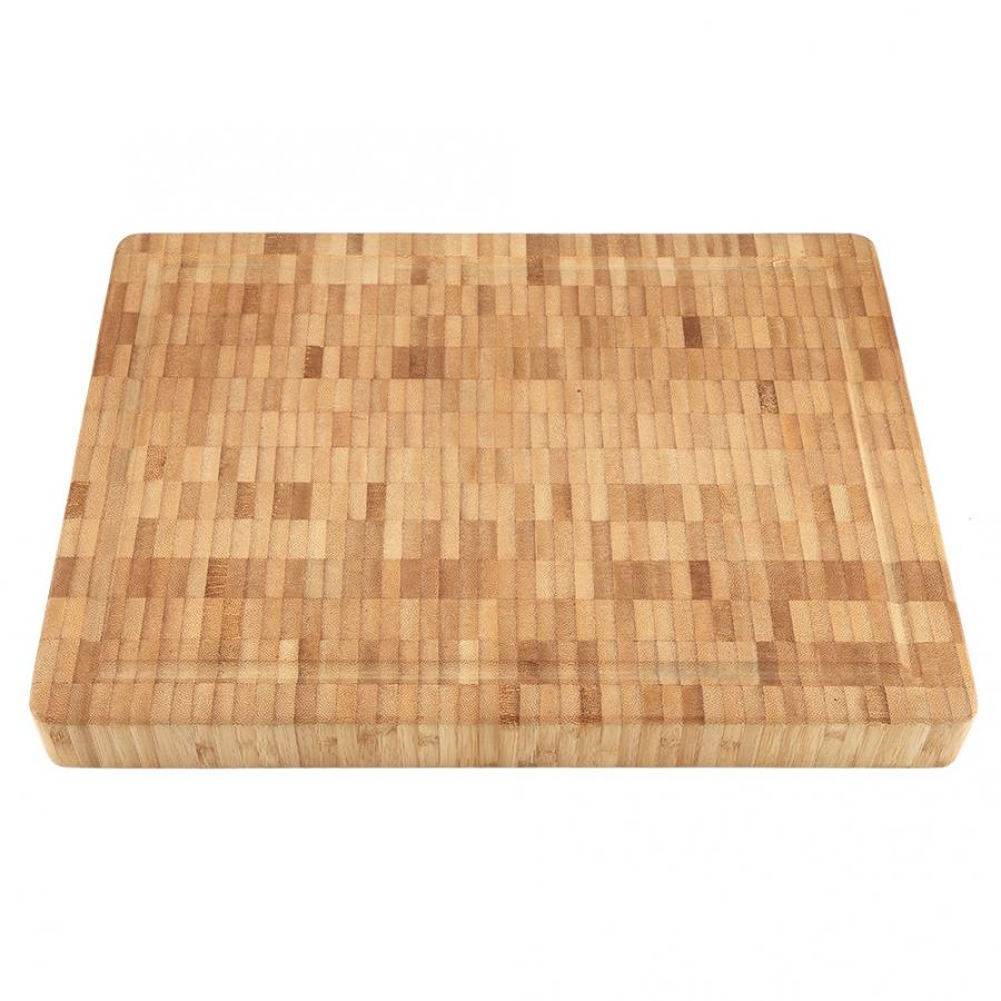 Large End Grain Antibacterial Bamboo Cutting Board Block Kitchenware Home End Grain Cutting Board
