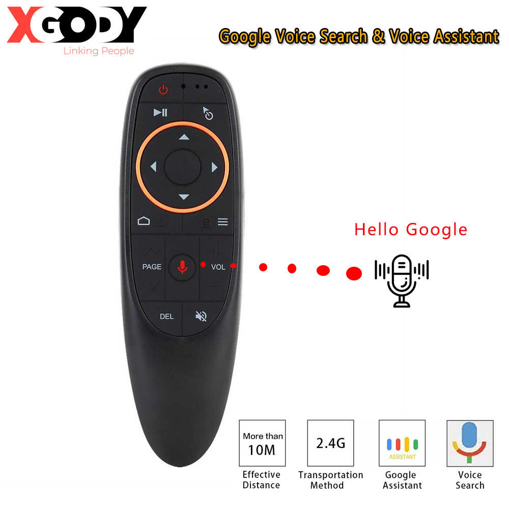 Xgody G10 Voice Afstandsbediening 2.4G Draadloze Air Mouse Microfoon Gyroscoop Ir Leren Voor Android Tv Box TX6S H96 x10 Max