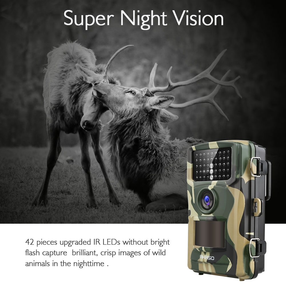 14MP 1080P Wildlife Hunting Scouting Cam Waterproof Camera