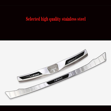 for toyota c hr 2016 2017 stainless steel rear bottom bumper protector guard plate trim 1pcs car styling accessories For  Toyota IZOA  superb Rogue Steel Rear Bumper Protector Sill Trunk Guard Cover Trim Car Styling Accessories