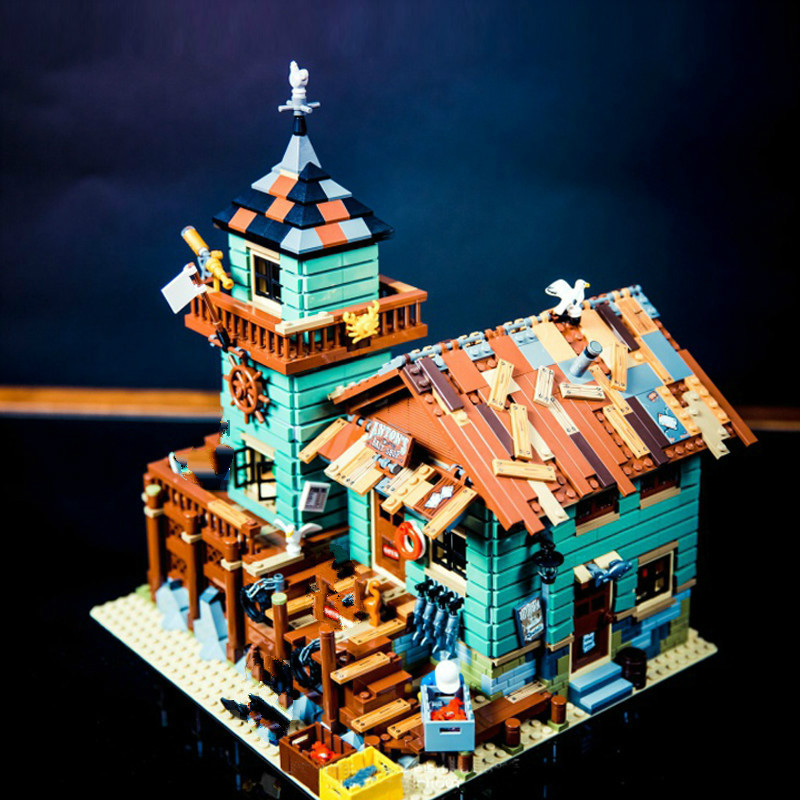 16050 Ideas Movie Series The Old Fishing Store Beach Resort House Building Block Bricks Toys Gift For Children 21310
