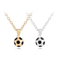 Moda futebol link corrente charme colar pingente de ouro cor esporte bola jóias masculino menino crianças presente pingente colar