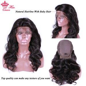 Image 3 - מלכת שיער חנות רשמית 13x6 HD שקוף תחרה מול שיער טבעי פאות Blackhair גוף גל Glueless פרונטאלית פאה נשים