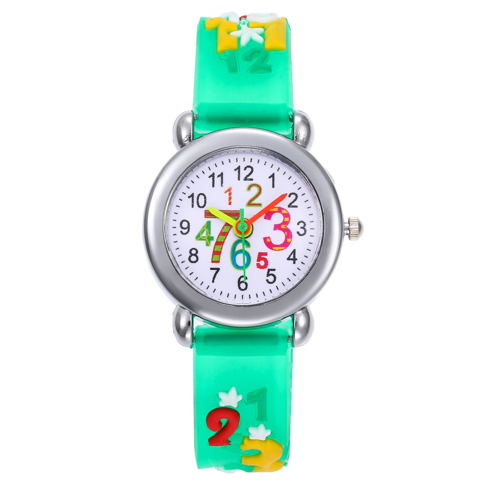 2019 Children Wrist Watches Fashion Jelly Color Kids Watches Cartoon Number Pointer Quartz Boys Girl's Students All-Match Watch