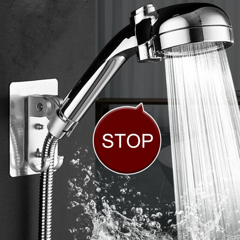 Pressurized Shower Head Japanese Style With Switch Household Handheld Shower Head Bath Water Purify Pressure Bathroom #7