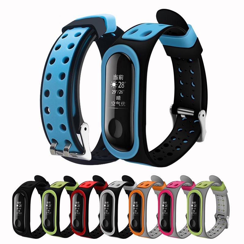 For Mi Band 4 Strap Silicone Wrist Strap For Xiaomi Miband 3 4 Smart Bracelet Wristband Replacemnet Double Buckle Colors Straps