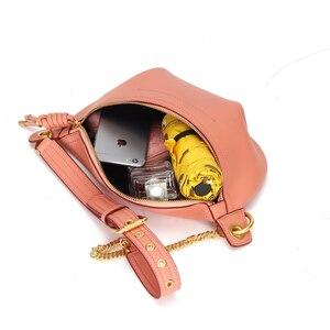 Image 5 - YIZHONG Luxury chest bag Women Bags Designer Fashion Genuine Leather Brand Crossbody Waist Bags for Women Chain messenger bag