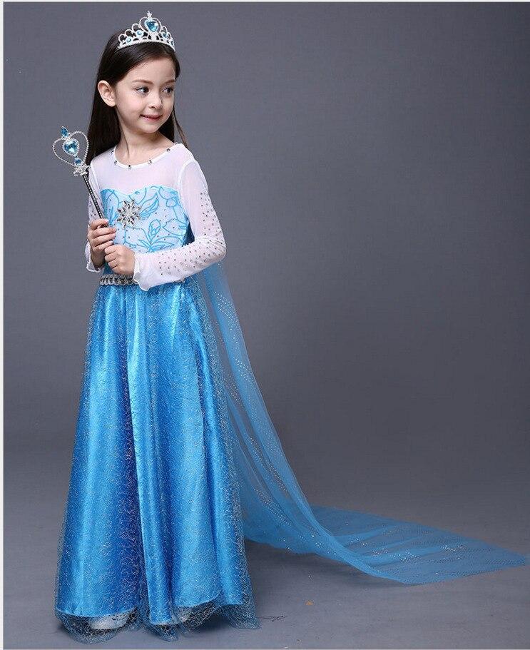 Frozen Princess Dress Aisha Elsa Queen Childrenswear Girls Dress Elsa Costume Children Dress
