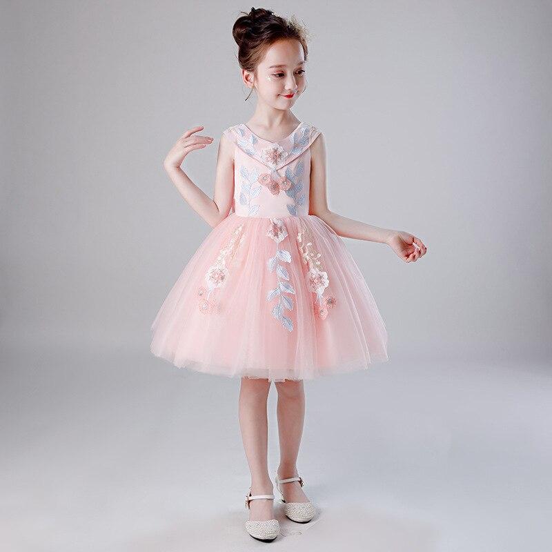 Girls Princess Dress 2019 Summer Puffy Gauze Skirt Children's Day Costume CHILDREN'S Dress Large Childrenswear